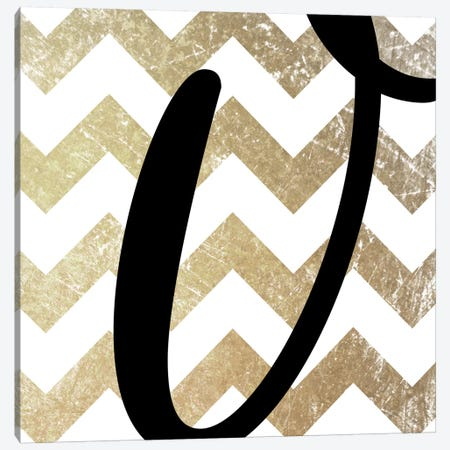V-Bold Gold Chevron Canvas Print #TOA410} by 5by5collective Canvas Print