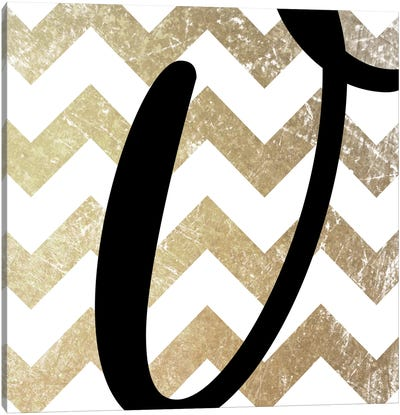 V-Bold Gold Chevron Canvas Art Print