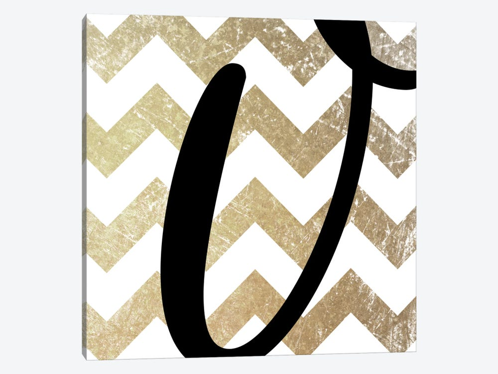 V-Bold Gold Chevron by 5by5collective 1-piece Canvas Print