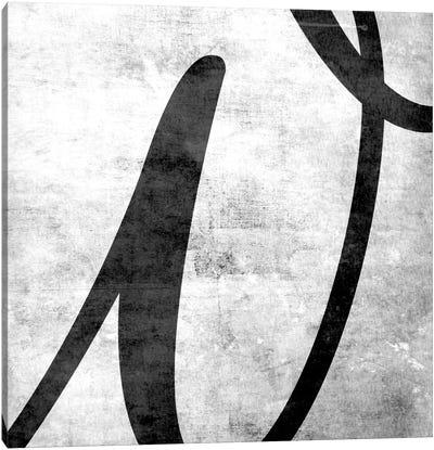 W-B&W Scuff Canvas Art Print