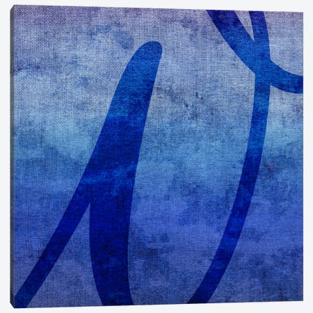 W-Blue To Purple Stain Canvas Print #TOA415} by 5by5collective Canvas Artwork