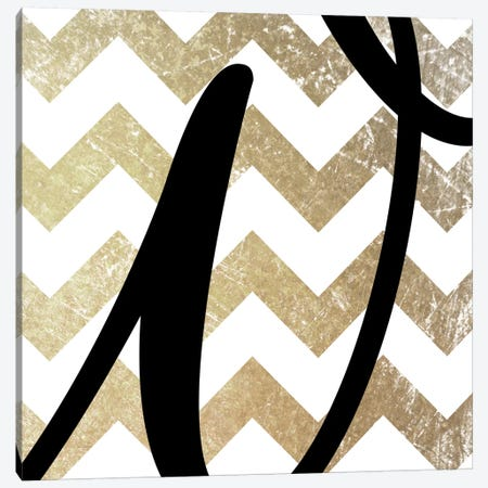 W-Bold Gold Chevron Canvas Print #TOA416} by 5by5collective Canvas Wall Art