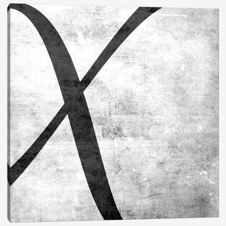X-B&W Scuff Canvas Print #TOA418} by 5by5collective Art Print