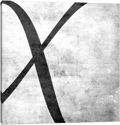 X-B&W Scuff Canvas Print #TOA418