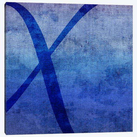 X-Blue To Purple Stain Canvas Print #TOA421} by 5by5collective Canvas Wall Art
