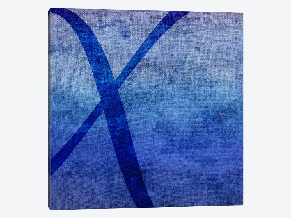 X-Blue To Purple Stain by 5by5collective 1-piece Canvas Print