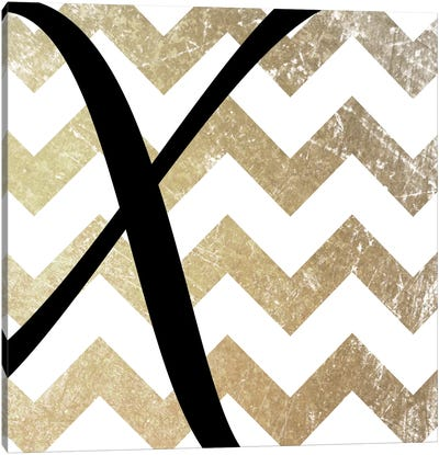 X-Bold Gold Chevron Canvas Art Print