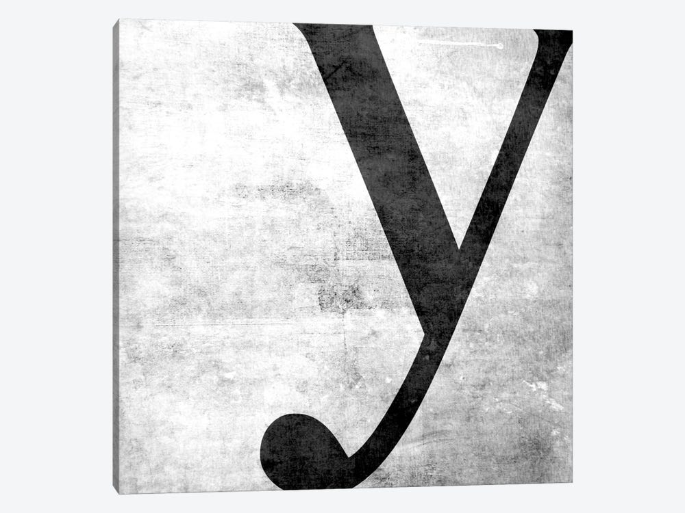 Y-B&W Scuff by 5by5collective 1-piece Canvas Wall Art