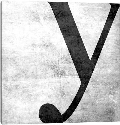 Y-B&W Scuff Canvas Art Print