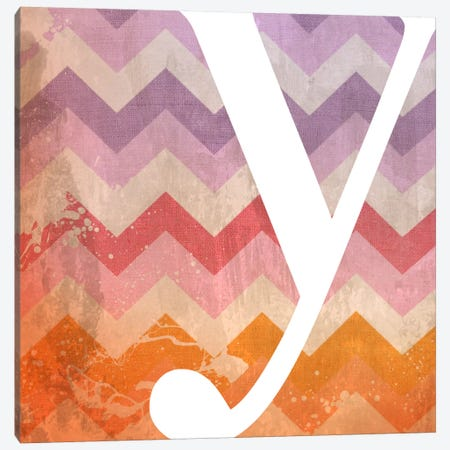 Y-Blah Stained Canvas Print #TOA425} by 5by5collective Art Print