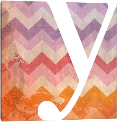 Y-Blah Stained Canvas Art Print
