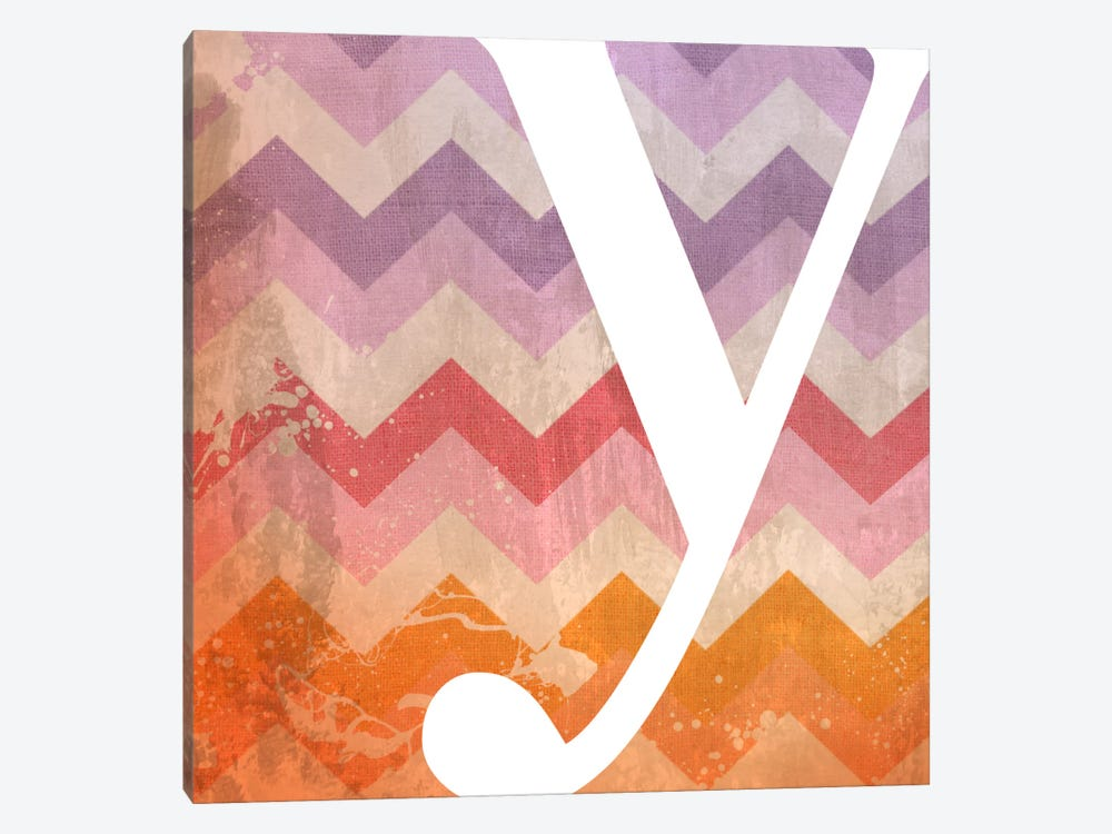 Y-Blah Stained by 5by5collective 1-piece Canvas Art Print