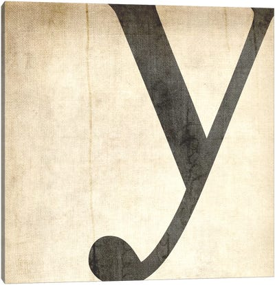 Y-Bleached Linen Canvas Art Print