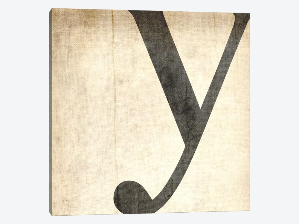 Y-Bleached Linen by 5by5collective 1-piece Canvas Artwork