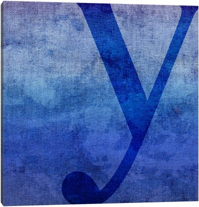Y-Blue To Purple Stain Canvas Art Print