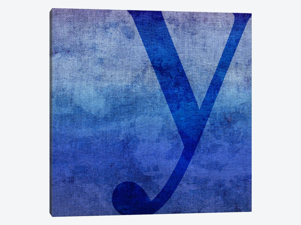Y-Blue To Purple Stain 1-piece Canvas Print