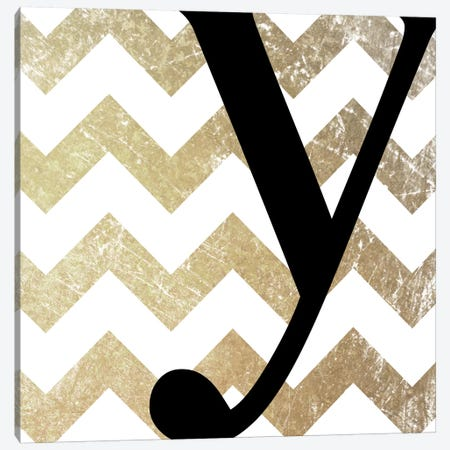 Y-Bold Gold Chevron Canvas Print #TOA428} by 5by5collective Canvas Wall Art