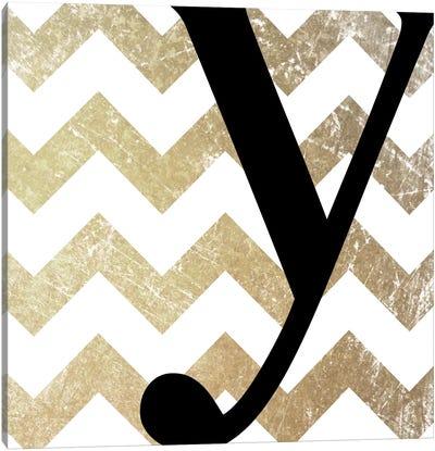 Y-Bold Gold Chevron Canvas Art Print