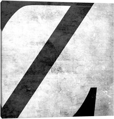 Z-B&W Scuff Canvas Art Print