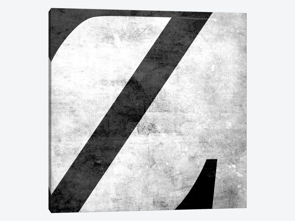 Z-B&W Scuff 1-piece Canvas Art Print