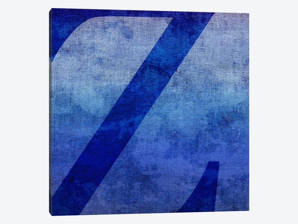 Z-Blue To Purple Stain by 5by5collective 1-piece Canvas Artwork