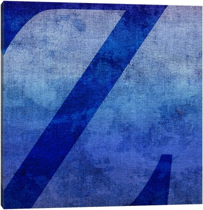 Z-Blue To Purple Stain Canvas Art Print