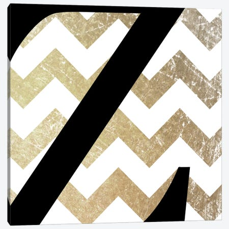 Z-Bold Gold Chevron Canvas Print #TOA434} by 5by5collective Canvas Art