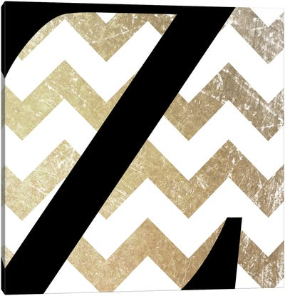 Z-Bold Gold Chevron Canvas Art Print
