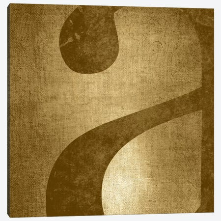 "Gold Shimmer Lower Case ""A"" Canvas Print #TOA435} by 5by5collective Canvas Artwork"