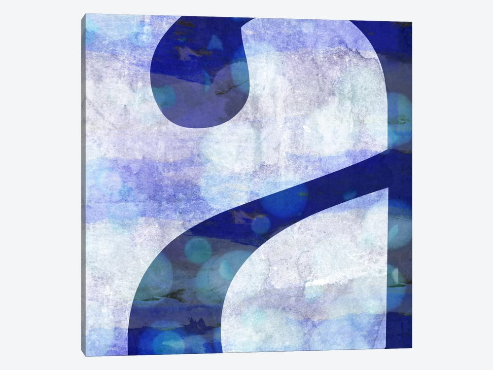 "Hazy Lower Case ""A"" 1-piece Canvas Print"