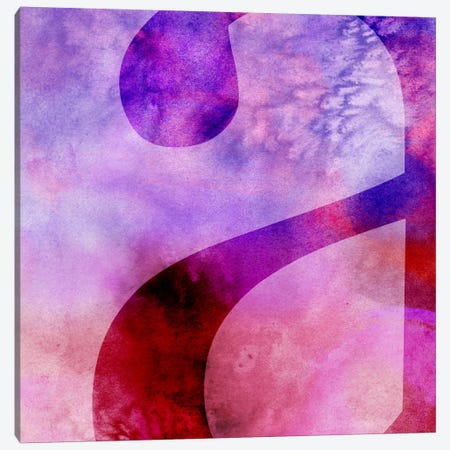 "Purplish Lower Case ""A"" Canvas Print #TOA439} by 5by5collective Canvas Print"