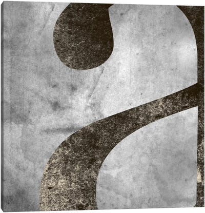 "Silver Fade Lower Case ""A"" Canvas Art Print"