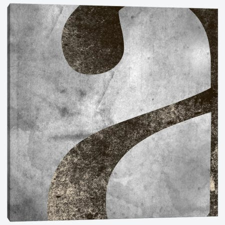 """Silver Fade Lower Case """"A"""" Canvas Print #TOA440} by 5by5collective Canvas Artwork"""