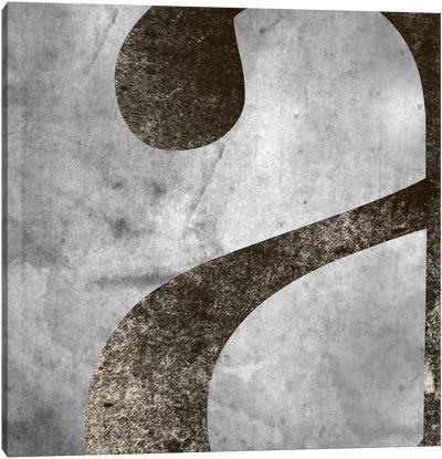 "Silver Fade Lower Case ""A"" Canvas Art Print"