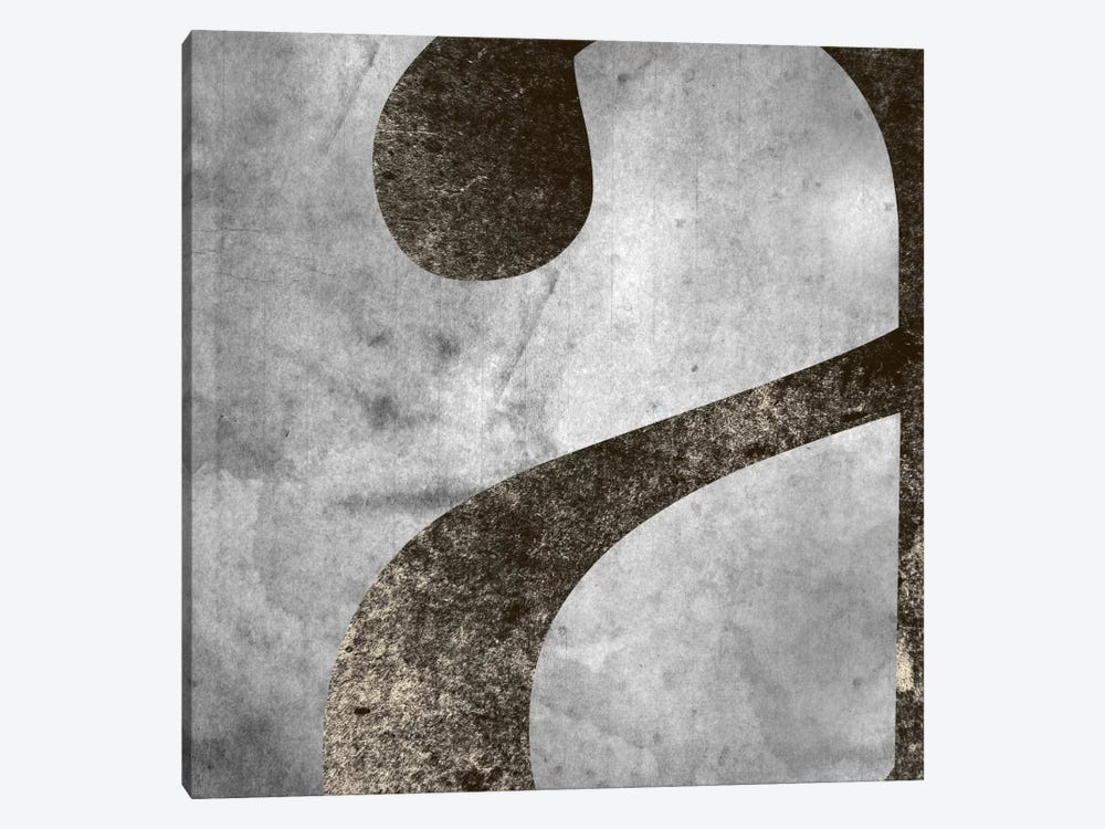 """Silver Fade Lower Case """"A"""" by 5by5collective 1-piece Canvas Art"""