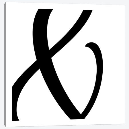 Ampersand in Black with White Background Canvas Print #TOA4} by 5by5collective Canvas Art