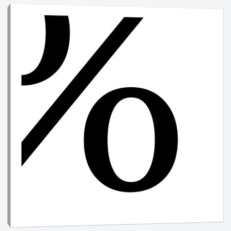 percent2 Canvas Print #TOA54} by 5by5collective Canvas Artwork