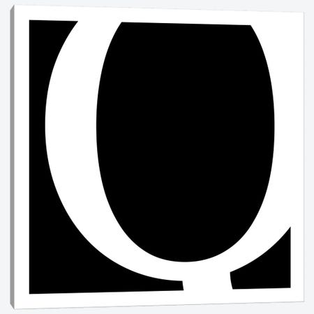 Q Canvas Print #TOA57} by 5by5collective Canvas Wall Art