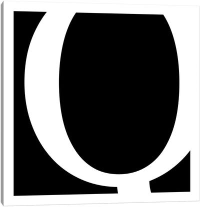 Q Canvas Art Print