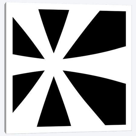 Asterisk in White with Black Background Canvas Print #TOA5} by 5by5collective Canvas Artwork