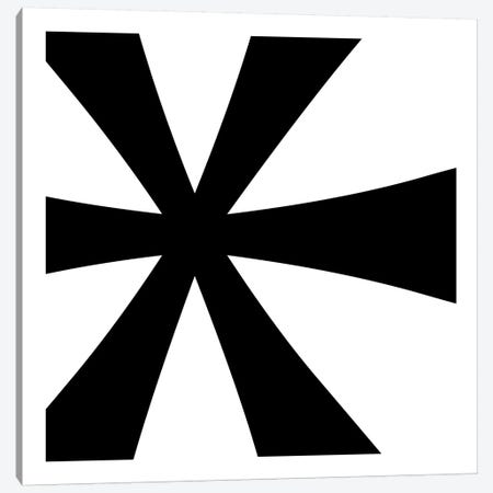 Asterisk in Black with White Background Canvas Print #TOA6} by 5by5collective Canvas Artwork