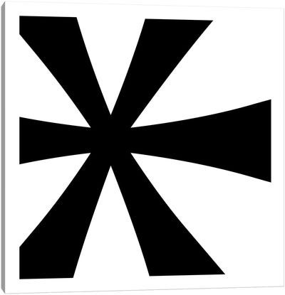 Asterisk in Black with White Background Canvas Art Print