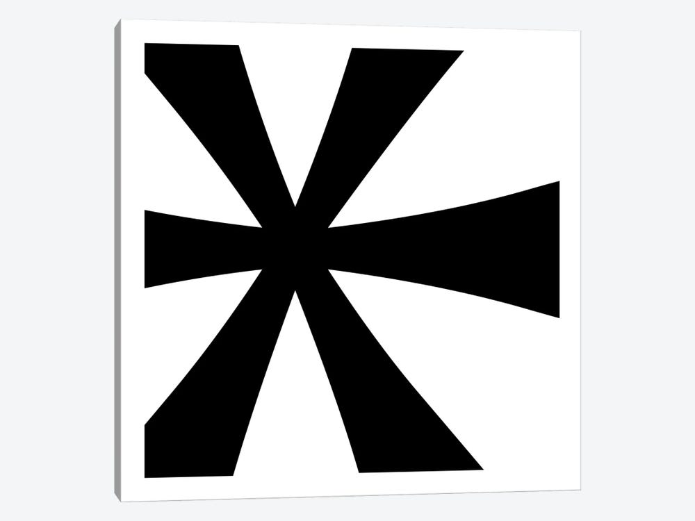 Asterisk in Black with White Background 1-piece Canvas Wall Art