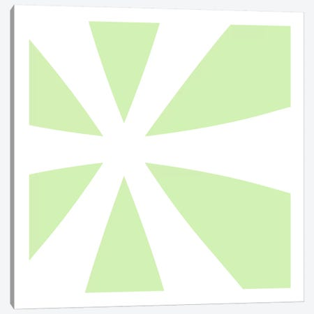 Asterisk in White with Lime Green Background Canvas Print #TOA85} by 5by5collective Canvas Art Print