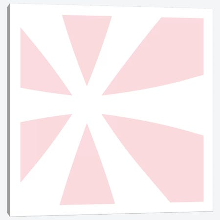 Asterisk in White with Pink Background Canvas Print #TOA86} by 5by5collective Canvas Print
