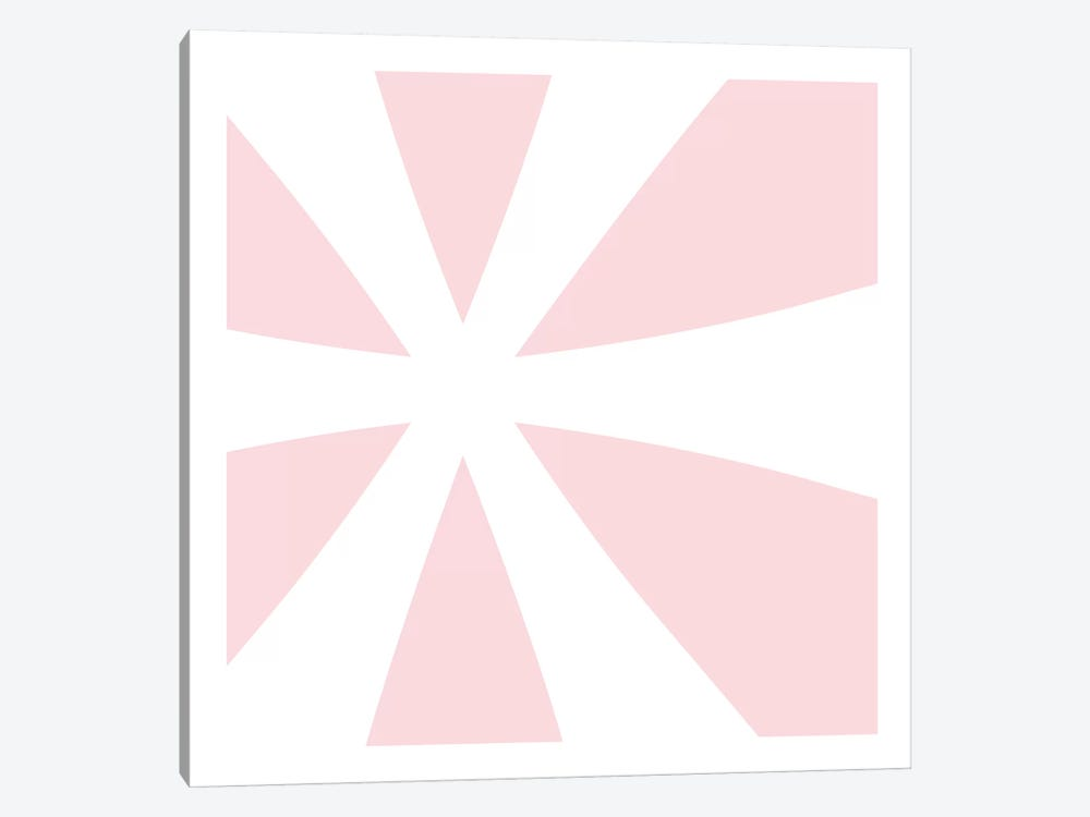 Asterisk in White with Pink Background by 5by5collective 1-piece Canvas Wall Art