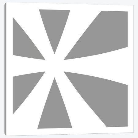 Asterisk in White with Grey Background Canvas Print #TOA87} by 5by5collective Art Print