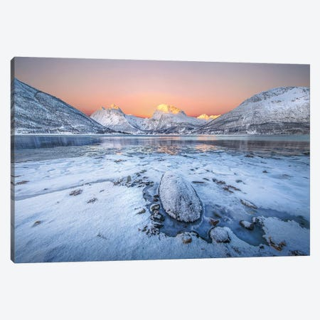 Sunrise In The North Canvas Print #TOB1} by Todor Bozhkov Canvas Wall Art