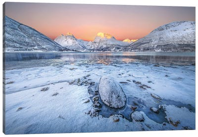 Sunrise In The North Canvas Art Print