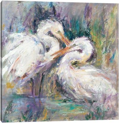Twin Beaks Canvas Art Print